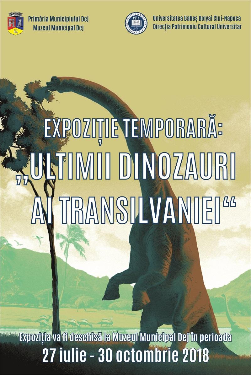 """Expoziția ,,Ultimii dinozauri ai Transilvaniei"""" se deschide la Dej cu ocazia zilelor orașului"""