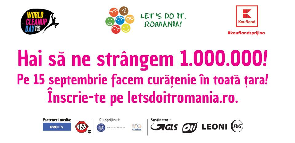 "15 septembrie "" Ziua Națională de Curățenie"" Let's Do It, Romania!"